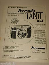 *26=FERRANIA TANIT 3X4=1954=PUBBLICITA'=ADVERTISING=PUBLICIDAD=WERBUNG=
