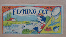 Fishing Game Early Prewar Japan Mint In Box  - New Old Stock