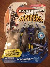 Transformers Prime Beast Hunters Deluxe Class Soundwave NIB