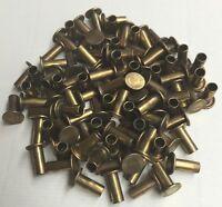 3/16 X 7/16 Semi Tubular Rivet Brass Brake Lining Flat 3/8 Head 200 Pcs.