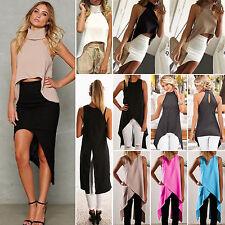 New Women Irregular Cami Tank Top Casual Loose Blouse Sexy Sleeveless Vest Dress