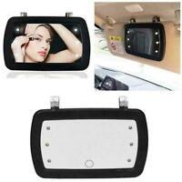 Car Sun Visor Mirror 6 LED Lighted Black Clip On Sun Mirror U6B8 Light11 M1C3