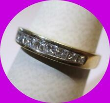 Lovely 14kt Yellow Gold Princess Diamond Wedding Band Ring--Size 6