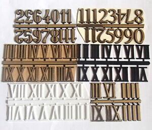 25 mm Self Adhesive Numerals Arabic/Roman Numbers for Clock Making, Clock Dials