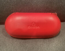OMEGA Watch Box Genuine Leather Red Pouch Watch Protection When Traveling
