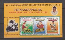 Philippine Stamps 2010 Fernando Poe Jr. Souvenir sheet MNH