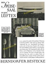 Reklame Zeppelin LZ 127 Speisesaal Berndorfer Besteck Tisch Krupp Esslingen 1928