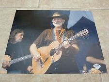 Willie Nelson Signed Autographed 11x14 Live Color Photo #8 PSA Certified