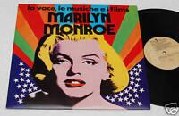 MARILYN MONROE:LP-LA VOCE..FILM-ORIGINAL ITALY 1974 EX+