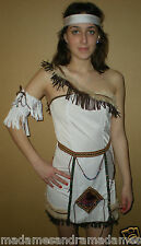 NATIVE RED INDIAN COSTUME WOMAN POCAHONTAS OUTFIT SQUAW Fancy Dress HALLOWEEN