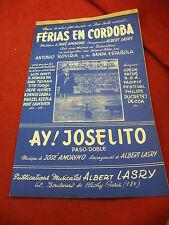 Partitura Ferias de Cordoba Amorino Ay! Joselito Paso Doble