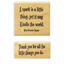 Spark - Thank you for the Little Things set of 2 Mounted rubber stamps #18