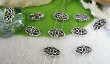 80pcs Tibetan silver 2 holes spacer beads FC10428
