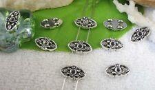 80pcs Tibetan silver 2 holes spacer beads FC10428