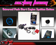 PUSH BUTTON START KIT Ignition Engine Starter BLUE LED