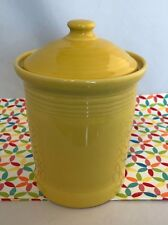 Fiestaware Sunflower Small Canister with Lid Fiesta Yellow Kitchen Crock