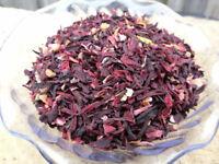 DRIED ORGANIC HIBISCUS FLOWERS -  Premium Scented Herbal - Vacuum Packed