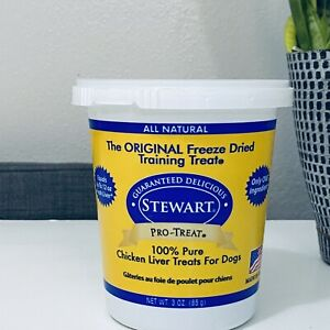 Stewart Training Pro-Treat 100% Freeze Dried Chicken Liver for Dogs 3 oz