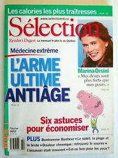 SÉLECTION DU READER'S DIGEST DE FÉVRIER 2003, EN COUVERTURE MARINA ORSINI
