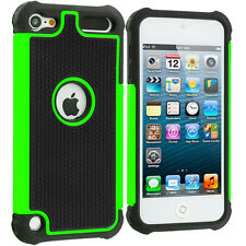 For Apple iPod Touch 5th Generation 5G Shockproof Hard Hybrid Case Cover Green