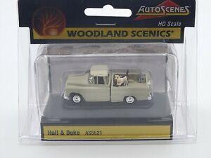 HO SCALE - WOODLAND SCENICS - AUTOSCENES - HALL & DUKE PICKUP - AS5521