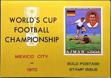 Ajman 1970 568 a-b bloque 194 fútbol WM Soccer World Cup Mexico oro Folder