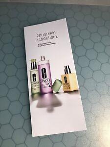 CLINIQUE 3-Step Skin Care System sachet SAMPLE SET for dry skin Limited