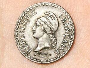 1848 A French France Un Centime 1c Coin #EE20