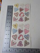 PROVO CRAFT HEARTS PINK YELLOW BLUE STICKERS SCRAPBOOKING A3205