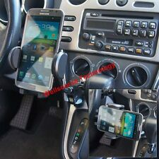 Car Charger Mount Holder Dual USB fit iPhone 5S 6S Galaxy S5 S6 S7 Note 4 5 Sony