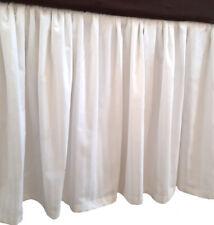 Stripe White Cotton Split Corner Ruffle Bed Skirt 650 Tc Select Size Drop Length