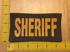 """Sheriff Patch - 3"""" X 5 1/2"""" On Hook Backing, Yellow On Desert Green (item 1105)"""