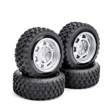 4Pcs Set Rally Racing Rubber Tires Wheel Rims For HSP HPI RC 1/10 Car 12mm Hex