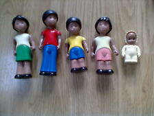 Little Tiked Dollshouse African Family of 5 - Rare FREE POSTAGE