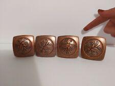 """4 Amerock Brushed Copper 4475-1 Cabinet Drawer Vineyard Square Knobs 1-1/8"""""""