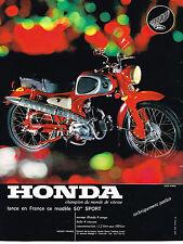 PUBLICITE ADVERTISING 104  1963  HONDA  moto 50CC champion du monde de vitesse