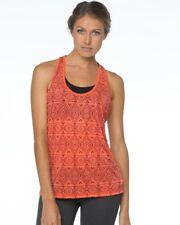 PRANA LUCA PERFOMANCE TANK Sz MD in Neon Orange - Fitness Essential!
