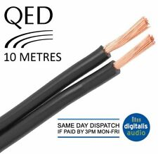10m of Black QED 79 Strand Oxygen Free Copper (OFC) HiFi Speaker Cable