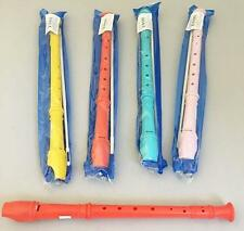 2 PLASTIC ASST COLOR W CLEANER 12 IN RECORDER FLUTES musical instruments flute
