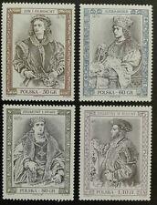 POLAND STAMPS MNH 1Fi3523-26 Sc3366-69 Mi3671-74-Paintings Polish rulers,1997,**