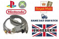 3 IN 1 MULTI AV CABLE FOR PLAYSTATION 1 2 3, NINTENDO WII , XBOX 360
