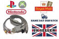 3 en 1 Multi AV Cable para PLAYSTATION 1 2 3, NINTENDO WII, XBOX 360