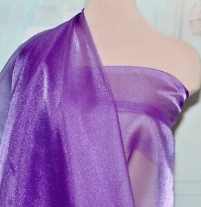SPARKLE ORGANZA FABRIC ROMAN PURPLE  BY THE YARD .PAGEANT..GOWNS..DECOR..CRAFTS
