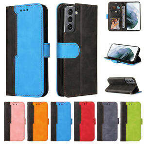 For Samsung S21 S20 A03S A02S A72 A52 A32 5G Flip Leather Card Wallet Case Cover