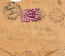 France Colonies CAMEROUN *Turned*Re-Used Censor WW2 Cover RAILWAY TPO 1942 BA144