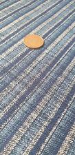 Japanese 100% Cotton Fabric FQ - Linen-Feel Blue Stripes (Sevenberry)