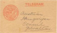2459 1875 The Eastern Telegraph Company Ltd to AustriaHungarian Consul GIBRALTAR