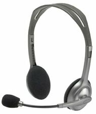 Logitech Headset H110 w/ Microphone Noise Cancellation 3.5mm Dual Plug - 2 Pack