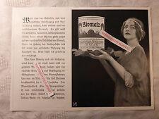 alte Werbung Reklame Anzeige Biomalz von 1913