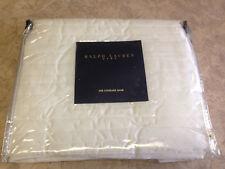 ~New - RALPH LAUREN Standard Pillow Sham - White~